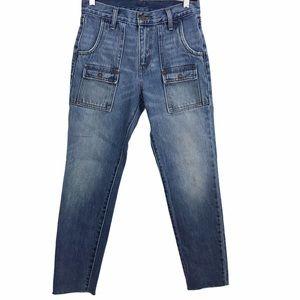 Levi Strauss Flap Pockets Released Hem Jeans